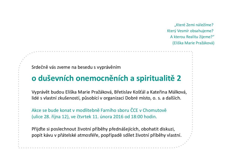 pozvánka - o duševních onemocněních a spiritualitě 2