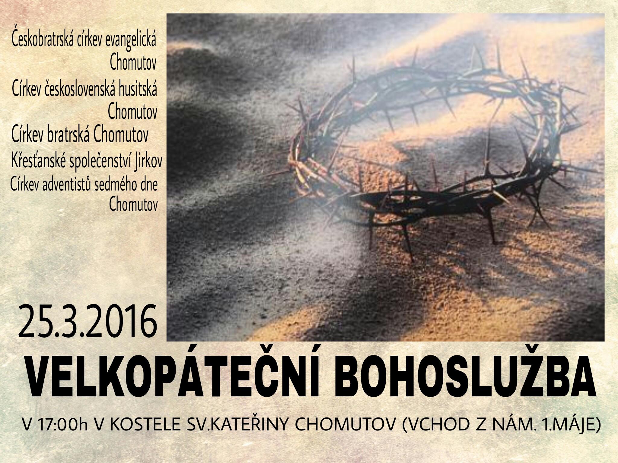 Velkopáteční bohoslužba 2016