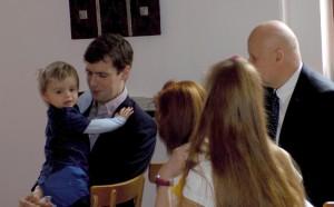 Patrik s otcem a dědečkem